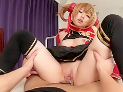 Hottest Japanese model in Amazing JAV censored Fingering, Blonde scene
