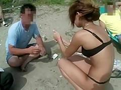 japanese micro bikini on the beach and outdoor sex