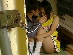 Japanese chearleader seduced by her lesbian coach