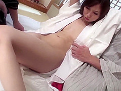Karen gets two males to show her a good time