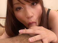 Peeing Girl Banana Asada Makes Two Guys Cum
