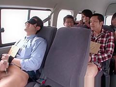 Busty Kyoko Maki cockriding in group