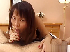 Rei Himekawa, babe in lingerie, fucked right