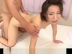 Tsubasa Okina Asian temptress blindfolds boyfriend for exciting pussy lick