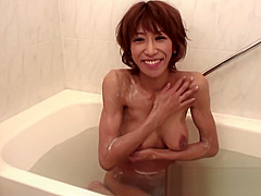 Busty Asian babe takes a hard cock after her bath