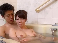 Son bonds with new stepmom by bathing together