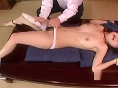 Young Asian Girl Tied To Desk Stimulated With Vibrator Licked Fingered