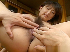 Asakawa Rei Getting Her Anus Poked Hard Over A Table