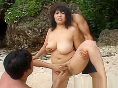 Rin Aoki Pretty Asian Girl On The Beach Has A Gangbang Of A Day