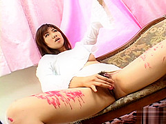 Teen Japanese Babe Masturbates And Burns From Hot Wax