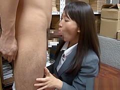 Kozue Hirayama hot Asian milf in an office suit