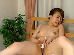 Iroha Sagara nude Asian amateur in solo voyeur masturbation