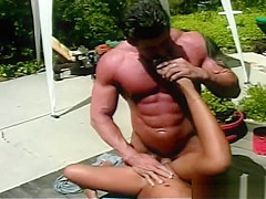 Horny asian slut gets fucked by muscle part6