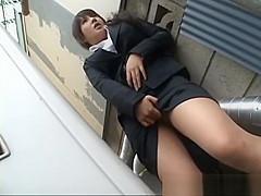 Frustrated Japanese doll masturbates part6