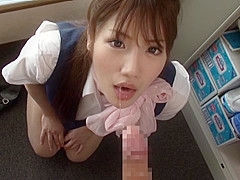 Naughty Office MILF Yui Hoshino Sucks Dick During Work