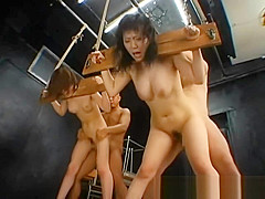 Tiny asian girls gets tied up and fucked