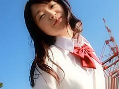 Kaho Mizuzaki naughty Asian teen in her first threesome