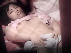 Hot asian whore rubbing