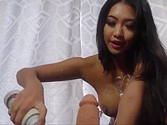 Super Hot Asian Babe Whipped Cream Fun