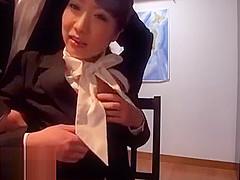 Japanese secretary meets her new boss