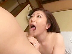 Busty mature woman sucking a cock In 69 and rides him