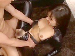 Asian Teen Latex Catsuit Fucked