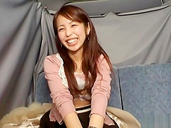 Lovely Japanese AV Model enjoys amateur masturbation