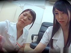Amateur Asian babes know how to pleasure a hard pole