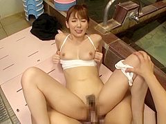 Creampie for sexy babe after a hardcore shag