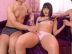 Balls sucking Asian whore