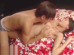 Beautiful Japanese model fucked on the stage