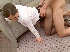 Japanese short hostess gets fucked in pantyhose