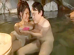 Japan group swinger foreplay at outdoor bathing pool