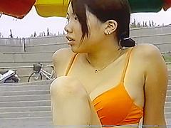 Bikini Boobs Candid in Japan