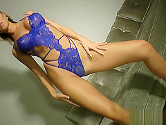 KT So in Blue Lace Pussy