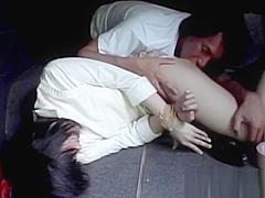 Japanese Teen Takes Cock Deep Inside Her Ass
