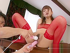 Japanese Slut In Stockings Gets Fucked With Sex Toys