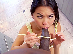 Smalltit japanese babe fucked in missionary