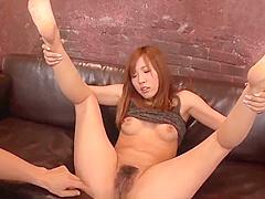 Yuika Akimoto deals a big one in her tiny holes - More at 69avs com