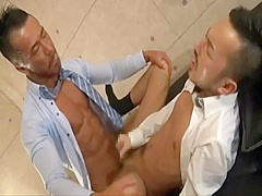 Japanese Muscle Daddy Fucks Co-worker!