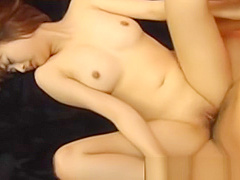 Shaved nippon beaver rides cock
