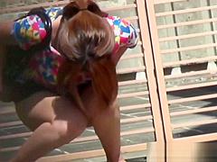 Pissy japanese hottie urinates in public