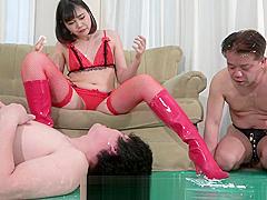 MLDO-159 The Cuckold masochist boyfriend show off the lover masochist doing
