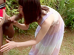 Incredible oriental teen harlot Kanon Tachibana brings dude to ejaculation out of the house