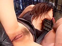 Mistress Dominating 3 Slaves Giving Footjob Handjob And Blowjob For Them Behind The Bars