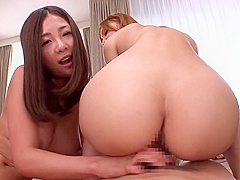 Dick sucking porn video featuring Minori Hatsune and Kokomi Sakura