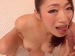 Reiko Kobayakawa sucking cock