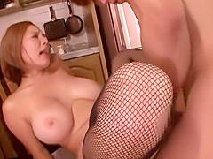 Pleasing busty Japanese mom Ruri Saijou