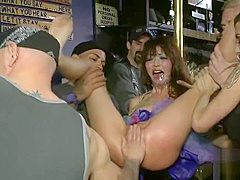Fetching Japanese Marica Hase in gangbang in public place