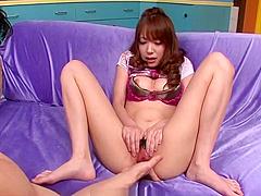 Large dick slowly pleases horny Ayaka Fujikita